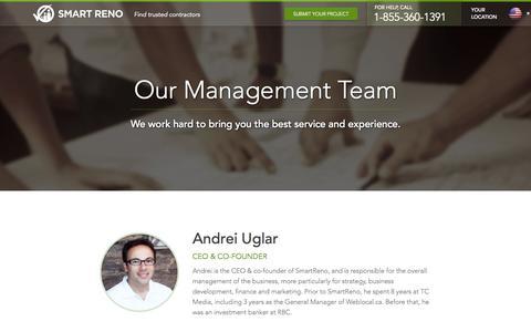 Screenshot of Team Page smartreno.com - The Team | SmartReno - captured Sept. 17, 2014