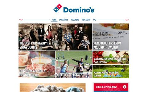 Screenshot of Blog dominos.co.uk - Domino's Blog - a place for pizza lovers | Domino's Pizza - captured Sept. 18, 2014