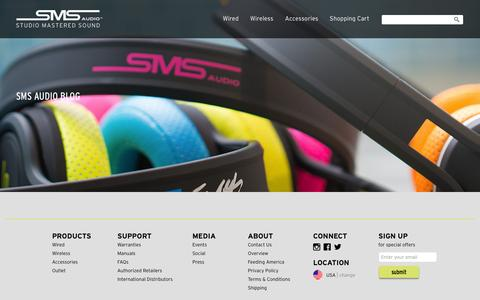 Screenshot of Press Page smsaudio.com - SMS Audio Blog   – SMS Audio, LLC - captured July 21, 2015