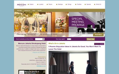 Screenshot of Home Page mercurejakartasimatupang.com - Mercure Jakarta Simatupang | Mercure Jakarta Simatupang – The Gateway to Your Business Trip in South Jakarta - captured Nov. 3, 2015