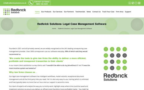 Screenshot of About Page redbricksolutions.co.uk - Case Management for law firms: About Us - Redbrick Solutions - captured Oct. 20, 2018