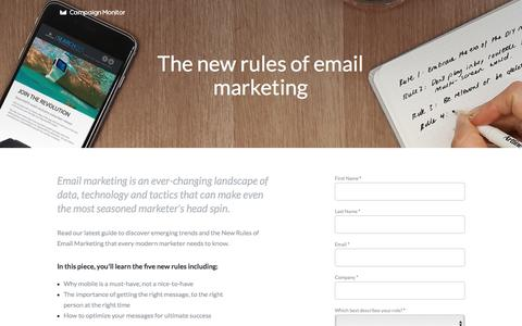 Screenshot of Landing Page campaignmonitor.com - Report: The New Rules of Email Marketing - captured March 25, 2016