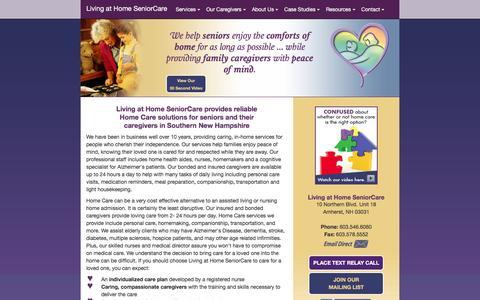 Screenshot of Home Page lahseniorcare.com - Living at Home SeniorCare - captured Jan. 31, 2016