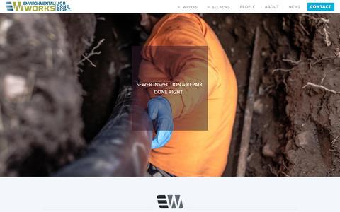 Screenshot of Home Page eworksnw.com - Environmental Works - Portland, OR - captured Nov. 9, 2016