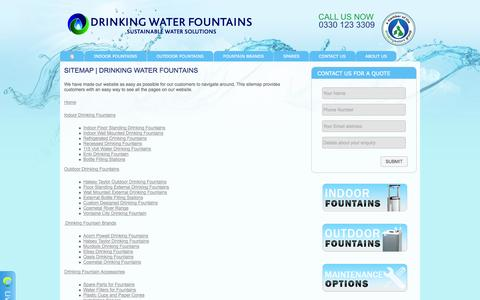 Screenshot of Site Map Page drinkingwaterfountains.co.uk - Sitemap | Drinking Water Fountains - captured Sept. 30, 2014