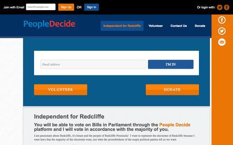 Screenshot of Home Page liz4redcliffe.com.au - Liz4Redcliffe - captured Sept. 23, 2015