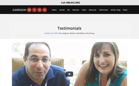 Screenshot of Testimonials Page motivational-speaker-success.com - Keynote Speaker Reccomendations | Speaker Testimonials  | Motivational Speaker Success - captured Dec. 23, 2017