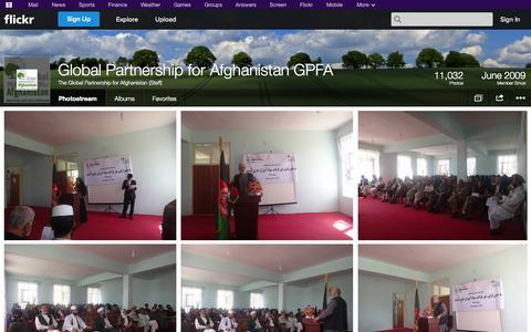 Screenshot of Flickr Page flickr.com - Flickr: The Global Partnership for Afghanistan (Staff)'s Photostream - captured Oct. 22, 2014