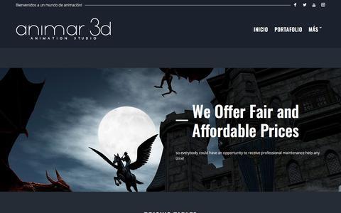 Screenshot of Pricing Page animar3d.com - Pricing – ANIMAR3D - captured July 30, 2018