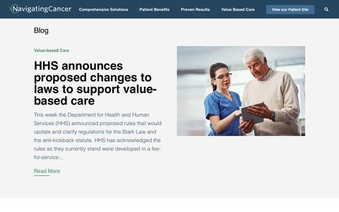 Screenshot of Blog navigatingcancer.com - Blog - Navigating Cancer - captured Oct. 28, 2019