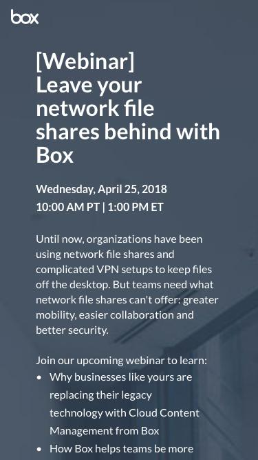 Leave your network file shares behind with Box