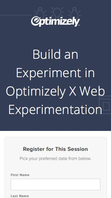 Build an Experiment in Optimizely X Web Experimentation