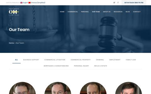Screenshot of Team Page owenhodge.com.au - Our Team | Owen Hodge Lawyers - captured Sept. 21, 2018