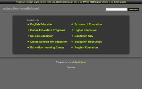 Screenshot of Home Page education-english.net - Education-English.net - captured Oct. 8, 2015