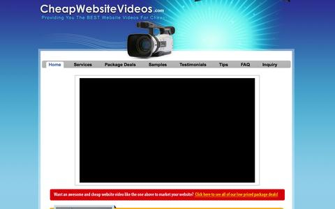 Screenshot of Home Page cheapwebsitevideos.com - Top Website Video Production Services and Website Video Marketing Company :: Place Video on Your Website and Start Marketing With Video! - captured Jan. 26, 2015