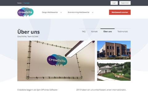Screenshot of About Page crowdsite.de - Über uns - captured March 26, 2017