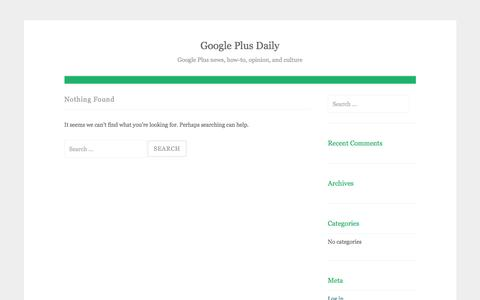 Google Plus Daily – Google Plus news, how-to, opinion, and culture