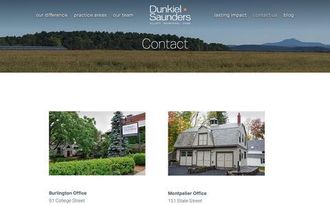 Screenshot of Contact Page dunkielsaunders.com - Contact Dunkiel Saunders - captured Oct. 9, 2018
