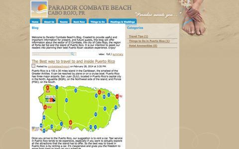 Screenshot of Blog combatebeach.com - Blog - captured Oct. 1, 2014