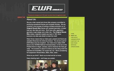 Screenshot of About Page ewrbikes.com - EWR Bikes - About Us - captured Jan. 24, 2016