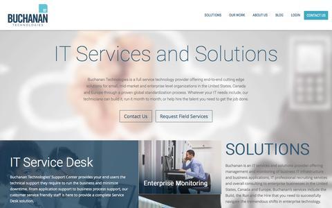 Screenshot of Home Page buchanan.com - Buchanan Technologies - captured Jan. 15, 2016