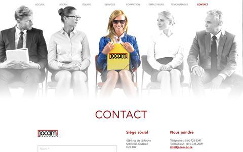Screenshot of Contact Page jocam.qc.ca - CONTACT | Québec | JOCAM - captured Oct. 14, 2018