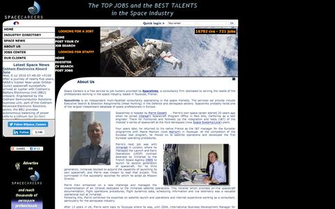 Screenshot of About Page space-careers.com - About Space Careers, the leading space industry recruitment website. - captured July 6, 2016
