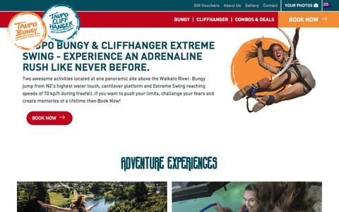 Screenshot of Home Page taupobungy.co.nz - Home   Taupo Bungy - captured Sept. 20, 2018