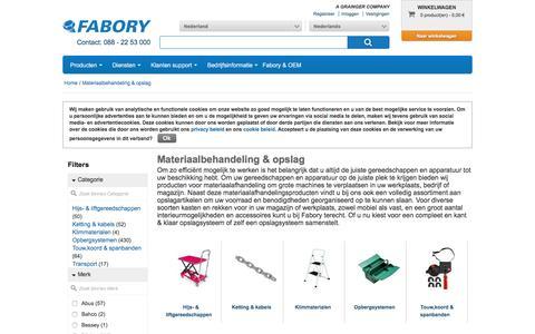 Bij Fabory bestelt u Materiaalbehandeling & opslag van hoge kwaliteit | Fabory, Nederland