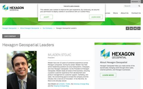 Screenshot of Team Page hexagongeospatial.com - Leadership | Hexagon Geospatial - captured Sept. 28, 2018