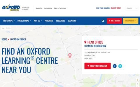 Screenshot of Locations Page oxfordlearning.com - Locations | Oxford Learning - captured Nov. 30, 2016
