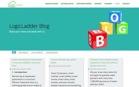 Screenshot of Blog logicladder.com - Energy and Environment intelligence blog. | LogicLadder - captured Dec. 4, 2015