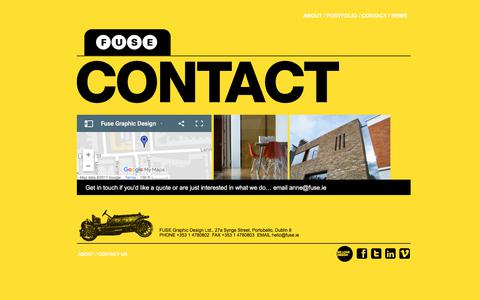 Screenshot of Contact Page fuse.ie - Contact - Fuse Graphic Design - captured Oct. 13, 2017