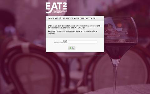 Screenshot of Signup Page eat2.com - eat² :: Your restaurant. Last minute. :: eat2 - captured Oct. 22, 2014
