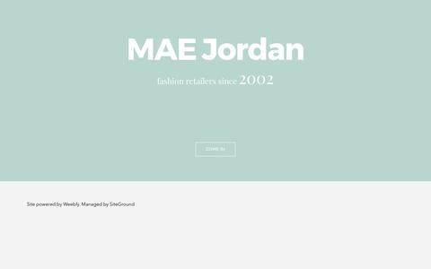 Screenshot of Home Page maejordan.com - Muhannad Abudahab Est. - Muhannad Abudahab Est. - captured May 25, 2017