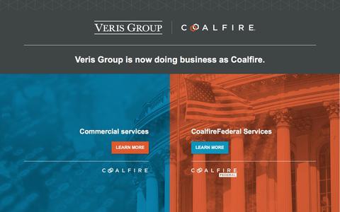 Screenshot of Home Page verisgroup.com - Veris Group - captured Aug. 22, 2019