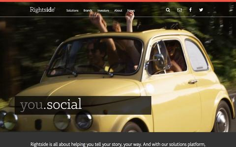Screenshot of Home Page rightside.co - Rightside   Inspiring possibilities in digital identity. - captured Oct. 24, 2015