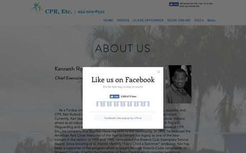 Screenshot of About Page cpr-etc.net - About Us | Florida | CPR, Etc. - captured July 14, 2018