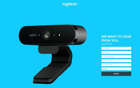 Screenshot of Landing Page logitech.com - Logitech Brio | Contact Us - captured April 26, 2017
