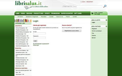 Screenshot of Login Page librisalus.it - Libri Salus - captured Sept. 25, 2014