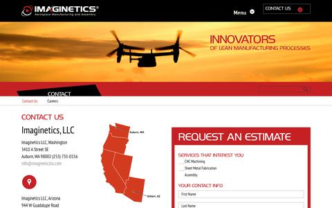 Screenshot of Contact Page imagineticsllc.com - Imaginetics  Contact Imaginetics, LLC - captured Nov. 6, 2018