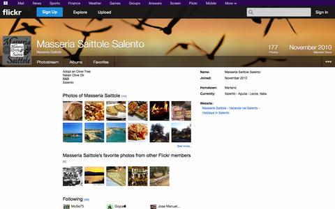 Screenshot of Flickr Page flickr.com - Flickr: Masseria Saittole - captured Oct. 27, 2014