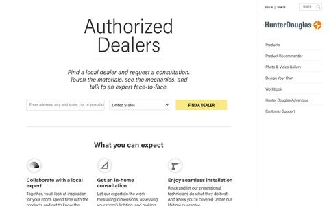 Dealer Locator | Hunter Douglas