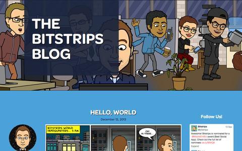 Screenshot of Blog bitstrips.com - The Bitstrips Blog - captured Sept. 13, 2014