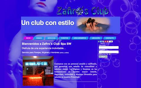 Screenshot of Home Page zafirosclub-sw.com - Swinger Club Bogota Zafiro´s sw - captured Sept. 19, 2014