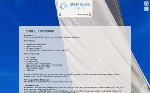 Screenshot of Terms Page greekislandcruises.eu - Greek Island Cruises - Terms & Conditions - captured Sept. 30, 2014