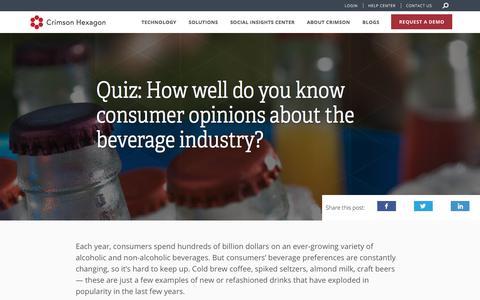 CPG Quiz – Beverages