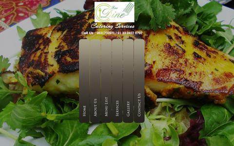 Screenshot of Home Page finedinekolkata.com - Best Caterers in Kolkata | wedding caterers | Fine Dine Kolkata - captured Oct. 6, 2014