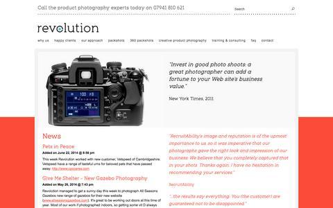 Screenshot of Press Page revolutionphotographic.com - Case studies - captured Oct. 9, 2014