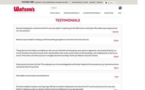 Screenshot of Testimonials Page watsons.com - Testimonial - captured Oct. 21, 2016
